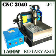 JFT CNC Mold Making Machine with Water Tank 1500w Spindle Motor 4 Axis CNC Machine with Parallel Port 3040