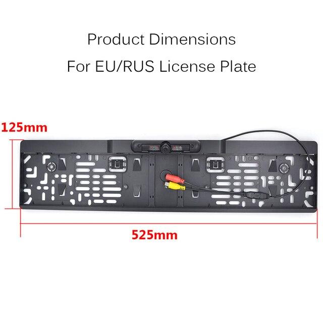 4.3 Pouce LCD De Voiture Moniteur RU Européenne Cadre de Plaque D'immatriculation arrière Vue Caméra IR Lumière nigh vision caméra de recul rétroviseur miroir 1