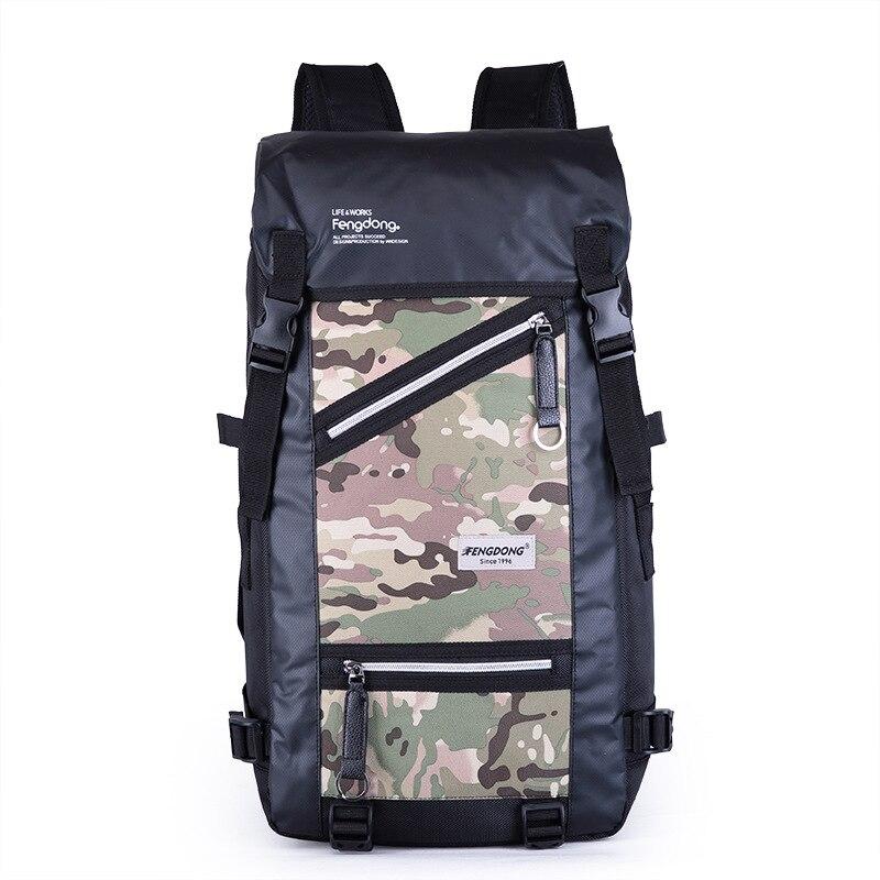Fengdong camouflage sac à dos homme grande capacité sac multifonctionnel étanche sacs à dos pour hommes garçons grand voyage sac à dos