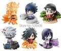 ¡ Caliente! NUEVO 6 Unids/set Q versión 5 cm naruto Uchiha Sasuke Uchiha Madara Orochimaru figura de acción juguetes juguete de Navidad