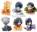 Hot! NOVO 6 Pçs/set Q versão 5 cm naruto Orochimaru Uchiha Madara Uchiha Sasuke action figure brinquedos de Natal brinquedo