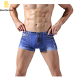 2017 Cotton Popular Casual Men Underwear Underpants Jean Print Men Boxers Size L-3XL