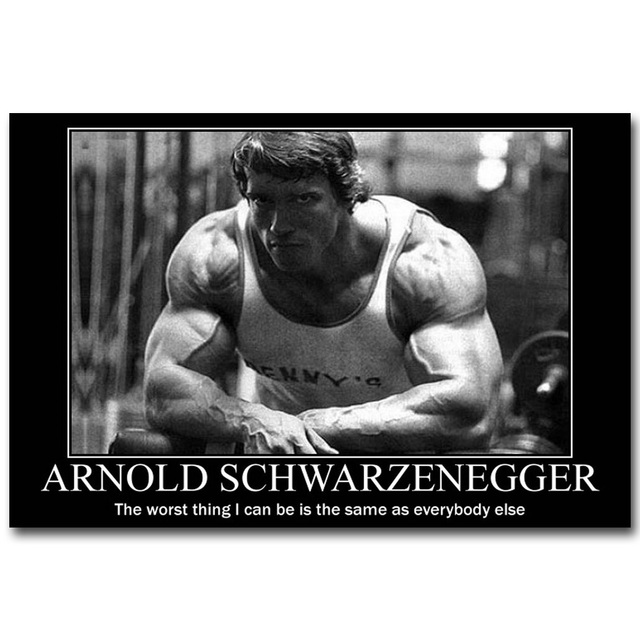 Arnold Schwarzenegger Bodybuilding Motivational Quote Art ...