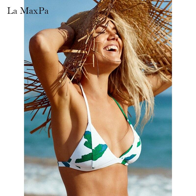 La MaxPa Bikini Set Print Swimsuit Women 2018 Swimsuit Sexy Swimsuit Summer Swimsuit girls bathingsuit XL