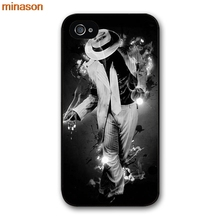 minason Michael Jackson Dancing MJ Cover case for iphone 4 4s 5 5s 5c 6 6s 7 8 plus samsung galaxy S5 S6 Note 2 3 4   H3021