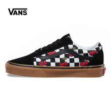 Vans Original Old Skool Classic Non-slip shoes Unisex Leisure Checkered  Cherry Shoes Women s Sneakers Men s Fencing Shoe 0be3d94f83e0