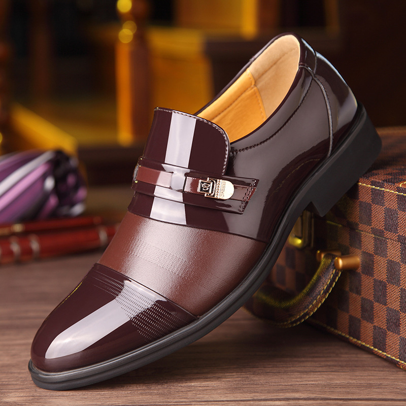 Men Flats Breathable Formal Shoes Black Brown Pointed Toe Comfortable Soft Footwear Summer Male Casual Business Party Shoes