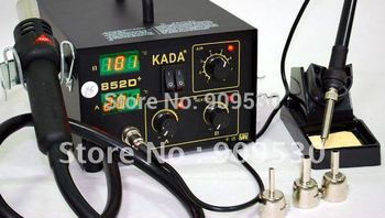 цена на Free sipping 220V KADA 852D+ Hot Air Repairing 2 in 1 Rework Station Soldering Irons & Stations welding iron