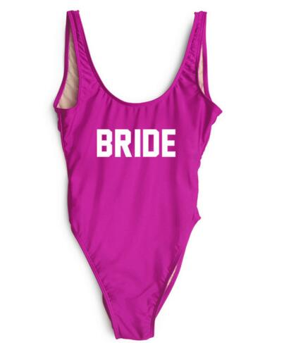 Women Sexy Swimwear BRIDE Backless Swimsuit Style Beachwear Bathing suit One Piece Bodysuit Jumpsuit Monokinis Customn Playsuit