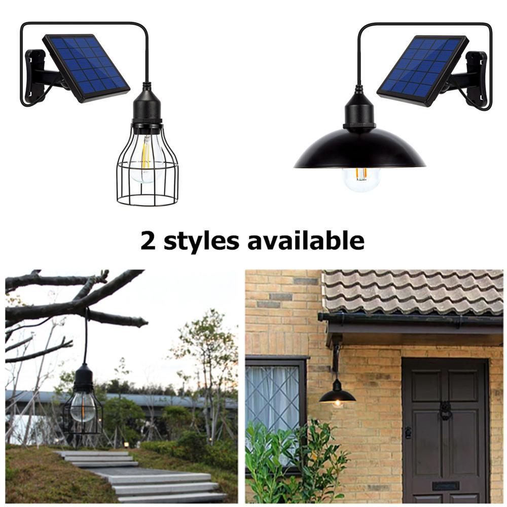 Image 4 - Ousam светодиодный светильник на солнечной батарее, люстра, Подвесная лампа с питанием от солнечной энернии, 3 метра, шнур, традиционная лампа Эдисона, подвесной Солнечный садовый светильникСветодиодные солнечные лампы    АлиЭкспресс