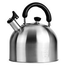 Чайник из нержавеющей стали, Бытовая газовая плита, универсальная большая емкость, чайник со свистком