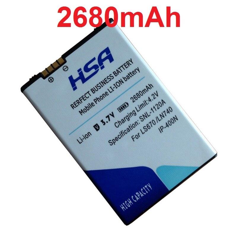 Phone-Battery GX200 P500 LS670 IP-400N 2680mah MS690 LW690 GM750 GW880 540 GW620 GT Optimus