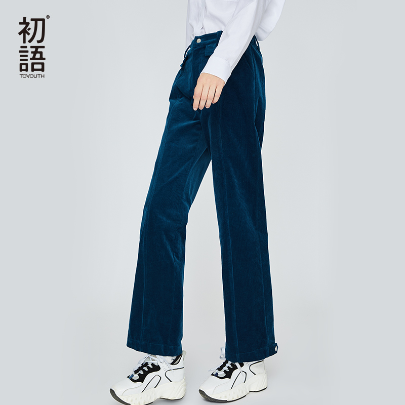 Toyouth Loose Women Pants Trousers  Winter Thick Casual Pant Warm Oversize Mujer Pantalones Full Length Harajuku Trouser 2019