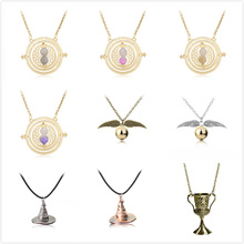 Movie Harri Potter Action font b Figures b font Necklace Hermione Golden Snitch Wand Accessories font