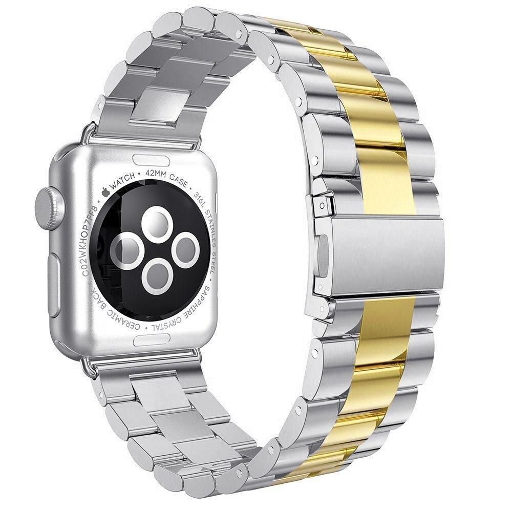 Watchband strap For Apple Watch band 42mm 38mm Stainless Steel metal iWatch 3 2 1 bracelet wrist belt Elasticity Fold buckle цена 2017