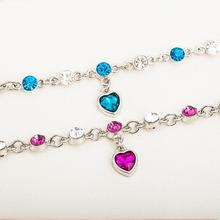 Hot Fashion Bracelet Pink Heart Womens Glamour Jewelry Personality Discovery