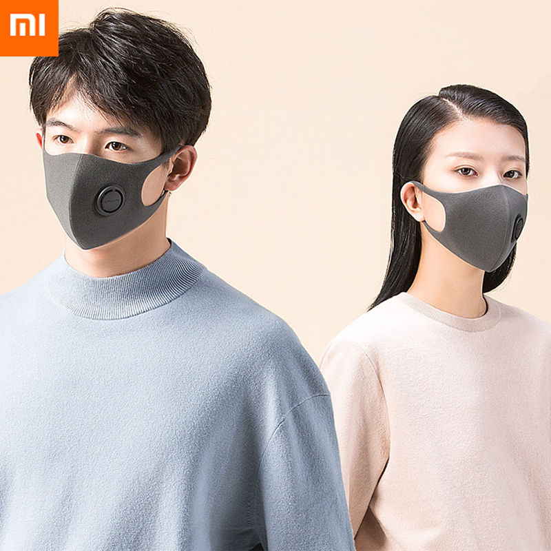 3pcs S-L Xiaomi SmartMi PM2.5 Haze Mask Purely Anti-haze Face Mask Adjustable Ear Hanging Fashion 3D Design Light Breathing Mask image