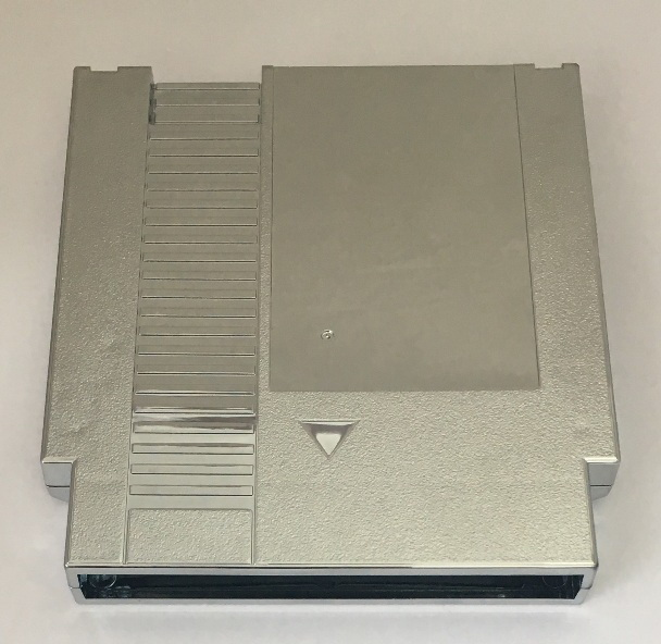 Silver Color Metal Plating 72 Pins Game Cartridge Replacement Plastic Shell For NES Console