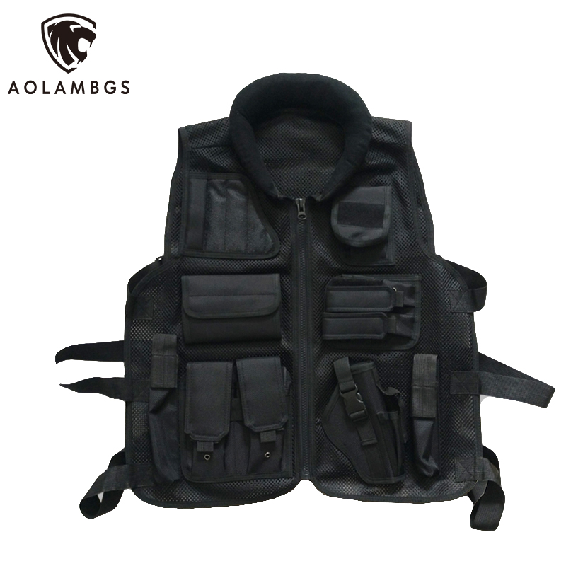 ФОТО Tactical vest Breathable mesh molle combat training vest military outdoor CS field paintball security protective equipment