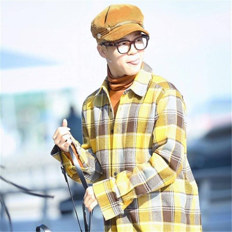 NEW fashional 2018 BTS JIMIN CLASSICAL Newsboy Caps adjustable cap unipue style unisex for couples WINTER WARM CAPS