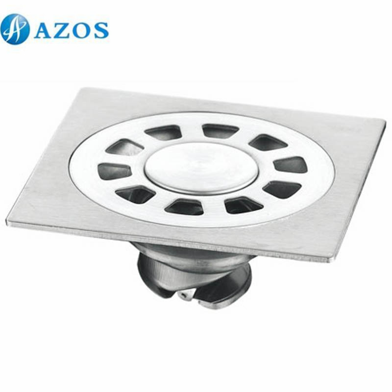 304 Stainless Steel Nickel Brushed Toilet Floor Drain Strainer Grates Waste Bathroom Shower Ground Overflow Fitting PJDL012