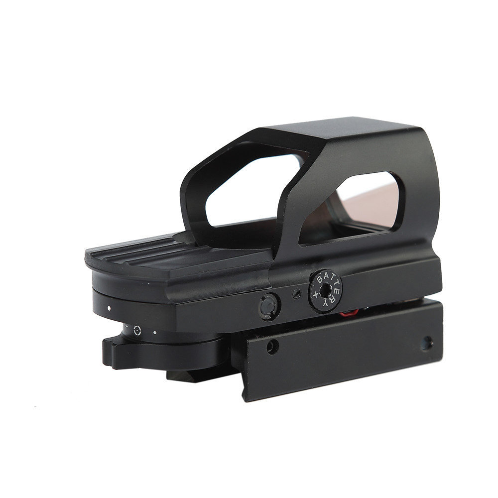1x23x34 Red And Green Dot Sight Scope With Quick Release 20mm Weaver Mount Base Fit 12ga Shotgun Optics Hunting Scope