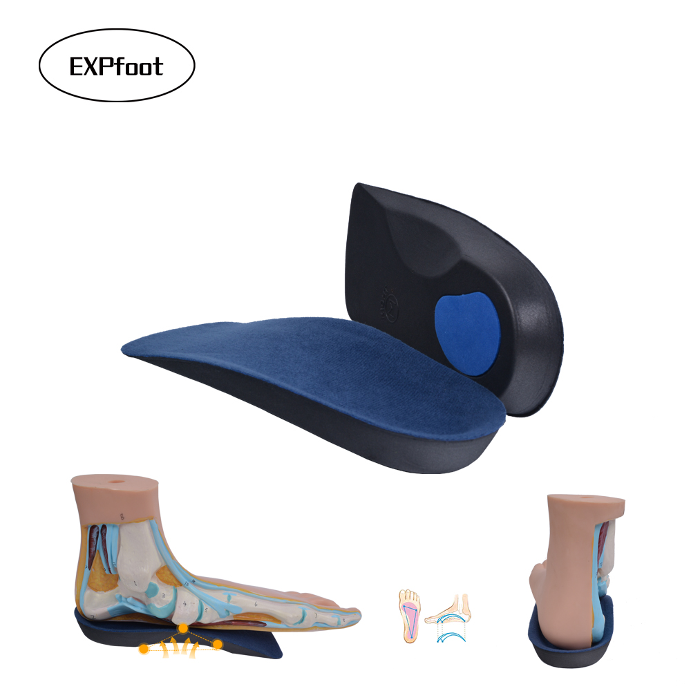 1 Pair EVA Flat Foot Orthotics Arch Support Half Shoe Pad Orthopedic Insoles Foot Care for Men and Women