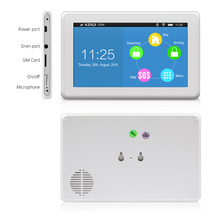 New Product High-end 7 Inch Color Display Touch Screen WiFi GPRS GSM Multiple Pattern Burglar Home Security Alarm System