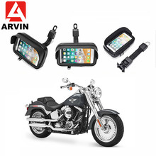 ARVIN Waterproof Motorcycle Holder Stand for iPhone XR 8P Samsung S8 S9 Moto Handlebar Phone Case Mount Bag for 4.7 5.5 6.3 inch abs pvc motorcycle mount holder water resistant bag for motorola moto x black
