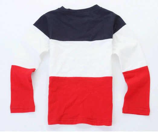Коллекция 2019 года, модная детская одежда на весну-осень детские футболки для маленьких мальчиков, футболки с длинными рукавами синие, белые, красные топы для девочек в стиле пэчворк