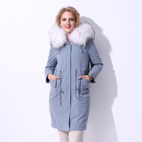 Factory Direct Supply New Winter 100 Real Fur Rabbit Fur Liner Large Size Cotton Parker Fur