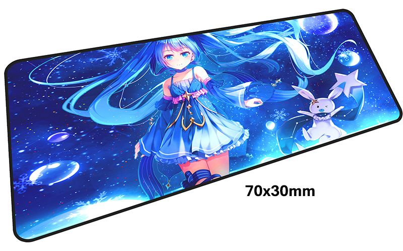 miku mousepad gamer 700x300X3MM gaming mouse pad large Christmas gifts notebook pc accessories laptop padmouse ergonomic mat