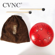 CVNC 6  steel tongue drum with C D E F G A B C 8 notes with free bag and rubber mallets for children instrument c e weyse theme and variations