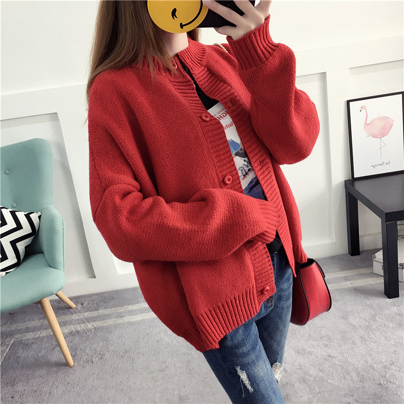 2018 Women Cardigans Winter Sweater Knitting Patterns Sweater Loose