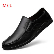 New Mens Shoes Casual Leather Men Loafers Moccasins Boat MEIL Brand Zapato Hombre