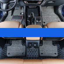 lsrtw2017 luxury leather car floor mat for bmw x3 2018 2019 2020 g01 g02 x4 accessories interior styling rug carpet covers