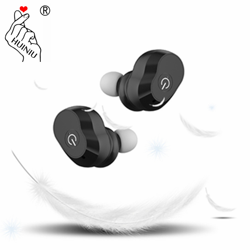 HUINIU Wireless Earphone Mini Bluetooth In-Ear Earbuds Handsets Head phone With Battery Dock Microphone for iPhone Xiaomi phone