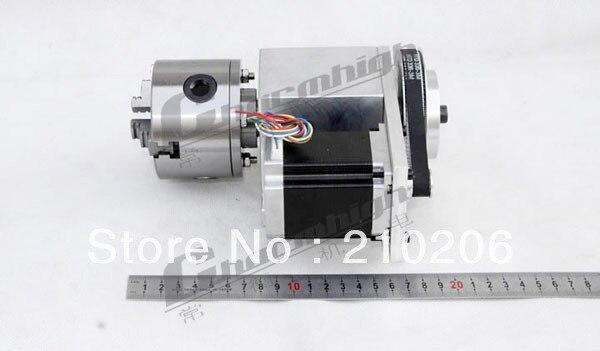 Скидка k11-80mm 3 челюсти ЧПУ 4th aixs Kit(aixs/ось вращения) полый вал+ бабки для ЧПУ Best качество