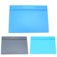 35 25cm Heat Insulation Silicone Pad Electrical Soldering Repair Station Maintenance Platform With Screw Location Mat