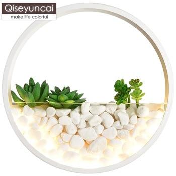 Qiseyuncai Nordic modern minimalist creative hydroponic led wall lamp bedroom bedside plant aisle decoration wall lamp