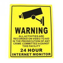 1PCS CCTV adhesive Warning Paper Sticker Warning Label Sign waterprrof rainproof for video Security Surveillance 200*250mm