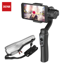 ZHIYUN Smooth Q 4 3-Axis Smartphone Stabilizer for phone for iPhone 7 6s Plus S7 S6 & Gopro 3/4/5 Samsung S8 Handheld Gimbal original zhiyun z one pro v1 02 handheld 3 axis camera gimbal for gopro 3 gopro 4 handheld brushless gimbal for gopro
