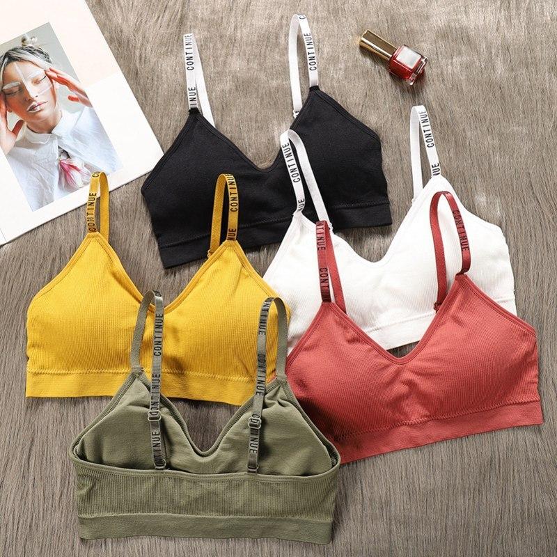 Push Up Women Bra Fitness Women Bralette Top Wire Free Padded Brassiere Bra Top