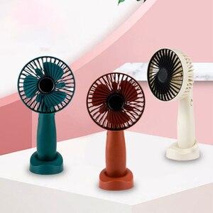 Image 5 - Mini Portable Hanging Usb Charging Fan Rotating Handheld Desktop Cooling Fan Cooler Mobile Phone Holder