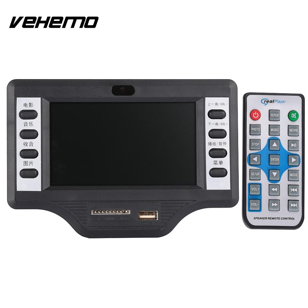 Vehemo Aux 43inch Video Decoder Board Mp5 Bluetooth Sd Box Modul Mp3 Player Plus Aksesories Auto Accessories Protable Speaker In Car Mp4 Players From