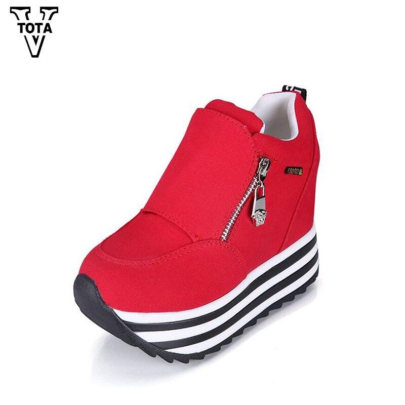 VTOTA Fashion Shoes Woman Wedges Casual Spring Autumn Women s Shoes Platform shoes Trainers Student Super
