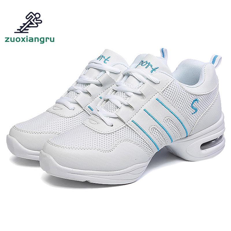 Large Size 34 44 Dance Shoes Women Soft Sole Breathable Mesh Dance Shoes Men Modern Jazz