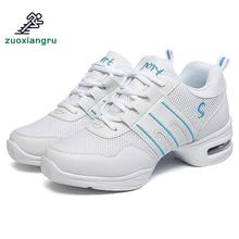 Купить с кэшбэком Large Size 34-44 Dance Shoes Women Soft Sole Breathable Mesh Dance Shoes Men Modern Jazz Dance Shoes Practice Sneakers