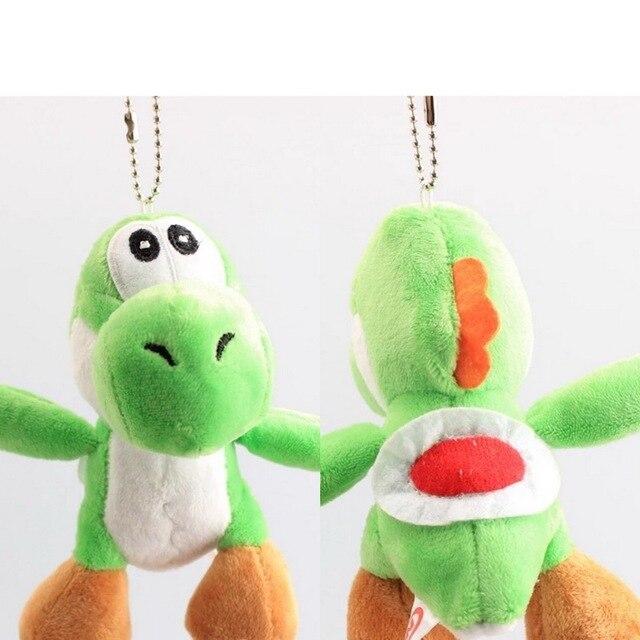 2 pçs/lote Super Mario Bros Yoshi Dragão 10 Cores Stuffed Suave Plush Toy Boneca Keychain Pingentes
