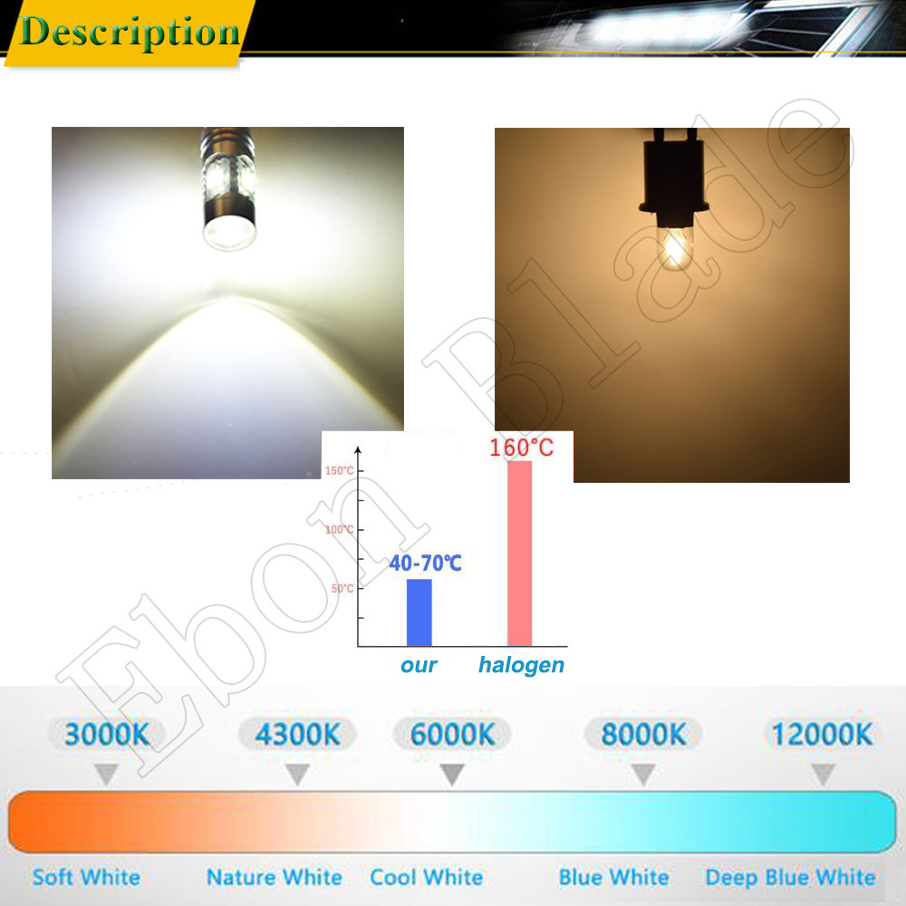 Image 5 - 2Pcs High Power Canbus Error Free White BAY9S H21W 64136 XBD 25W Auto LED Lights Reverse Parking Bulb Lamp Car Styling 12V DC-in Signal Lamp from Automobiles & Motorcycles